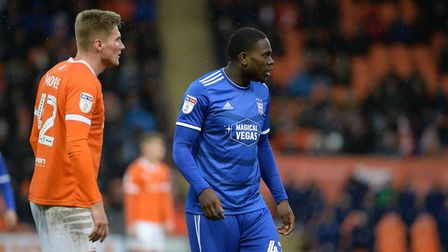Tyreece Simpson on as a sub at Blackpool. Picture Pagepix Ltd