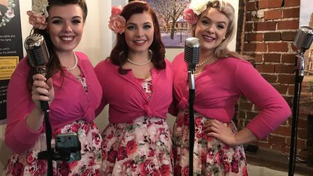 Chloe, Hannah and Charly from the Knightingales. A coffee shop is returning to Ixworth High Street a