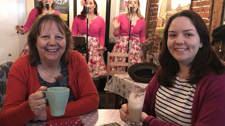 Sue and Katie Monaghan. A coffee shop is returning to Ixworth High Street after being without one fo