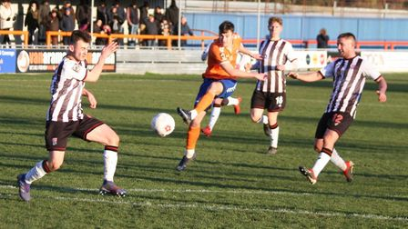 Liam Smyth strikes home a terrific goal to put Braintree Town 2-0 up against high-flying Bath City.