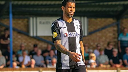 Carlos Edwards, who scored another goal from the penalty spot in Saturday's 6-3 win at Thetford Town