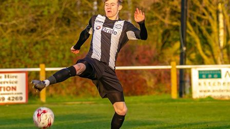 Nathan Read, who scored a hat-trick in Saturday's 6-3 win at Thetford Town. Picture: PAUL LEECH