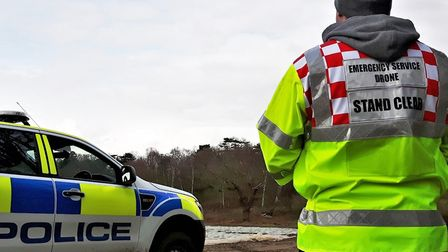 A drone pilot in action Picture: SUFFOLK FIRE AND RESCUE SERVICE