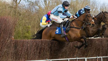 Fumet D�Oudairies and Jack Andrews on their way to their 4th win of the season in the Intermediate r
