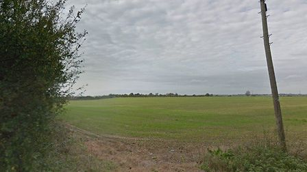 The land proposed for a 100-home development to the west of Dawes Lane, on the edge of West Mersea P