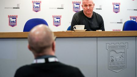 Town manager Paul Lambert answers questions from EADT Chief Football Writer Stuart Watson, following