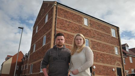 George Skipper and Rhiannon Jennings recently moved into a brand new Kier property and have had hug