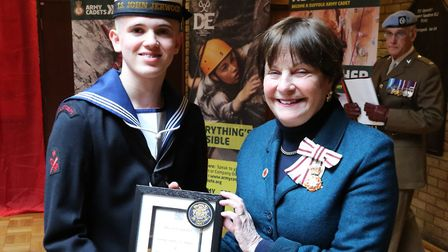 Leading Cadet Kian Radford was made one of the Lord Lieutenants Cadets by Lady Euston at a ceremony