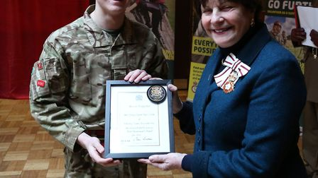 Cadet Company Sergeant Major Ethan Smith was made one of the Lord Lieutenants Cadets by Lady Euston