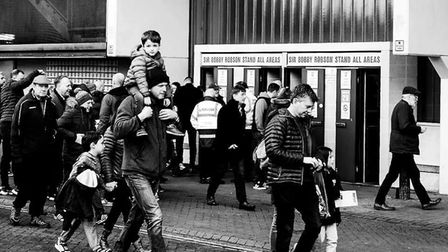 Behind the lense with Mike as he captures Town fans home and away Picture: MIKE TURBERT