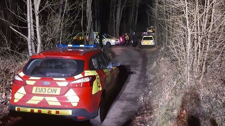 Four children had to be rescued by the emergency services after they became trapped in mud on the be
