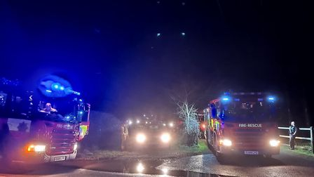 The children used lights on their phones to guide the emergency services towards them. Picture: HOLB