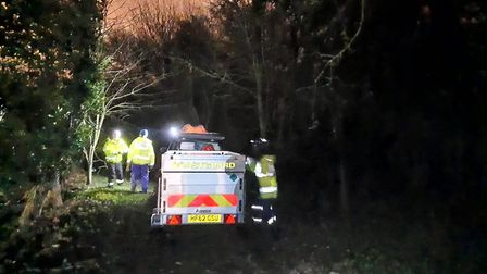 It took the emergency services three hours to rescue the four children from the mud near Wrabness. P