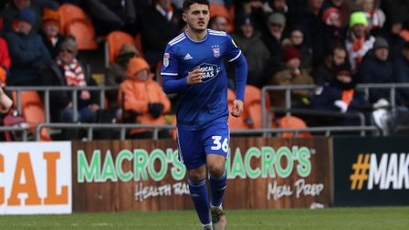 Armando Dobra pictured during Town's 2-1 defeat at Blackpool Photo: ROSS HALLS
