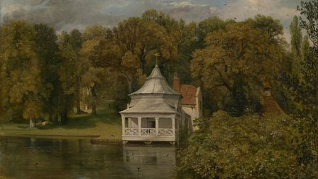 The Quarters Behind Alresford Hall, painted by John Constable in 1814. Close to the proposed childre