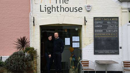Owners Sam and Max Hayes the Lighthouse Restaurant in Aldeburgh celebrates 25 years of fine dining