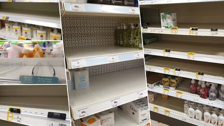 Retailers are running low on handwash, with many completely out of hand sanitiser Picture: ARCHANT