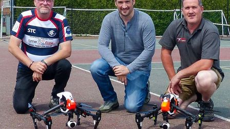 Dan Somers (centre) is concerned drone pilots may be unknowingly helping criminals target Suffolk ch