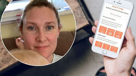Mum and Baby App. Picture: Toni Howlett/NHS