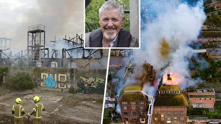 Griff Rhys Jones, inset, is calling for action to protect buildings after the Fisons and Tolly Cobbo