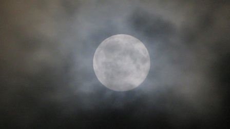 Alex Rudiger of Ipswich took this photo of the Super Worm Moon. Picture: ALEX RUDIGER