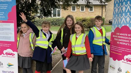 West Row pupils Megan, Jessica, Issy, Izzy and Cianan. Picture: WEST SUFFOLK COUNCIL