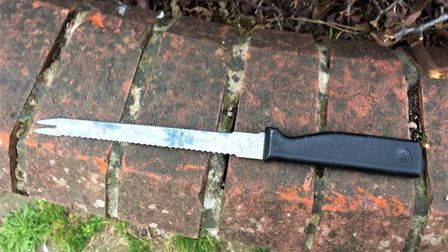 The knife was found near to a children's play area and primary school in the Poplar Road area of Gre