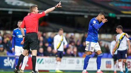 Kayden Jackson is set to return from suspension after being sent-off against Oxford. Picture Steve