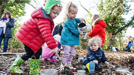 The Wild Tots group at Christchruch Park arranged by Suffolk Wildlife Education team. Picture: JOHN