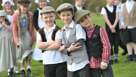 Pupils at Whatfield Primary School had a fun packed day dressed up as Victorian children Picture: SA
