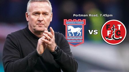 Ipswich Town take on Fleetwood Town this evening. Picture: STEVE WALLER