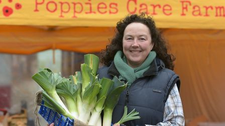 Liz Marley, Director of Poppies Care Farm at the Ipswich Farmers' Market Picture: SARAH LUCY BROWN