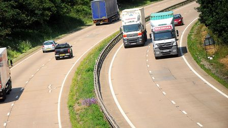 Andrew Papworth thinks lorries overtaking on the A14 should be banned Picture: ARCHANT LIBRARY