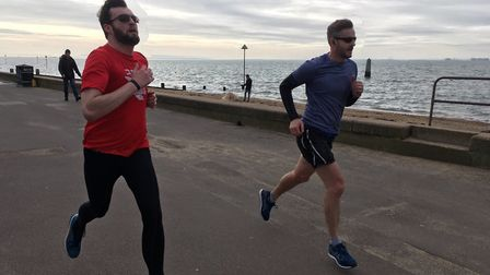 Runners in full flow at the second staging of the Chalkwell Beach parkrun, at Westfliff-on-Sea. Pict
