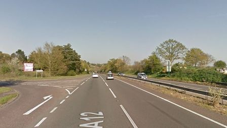 The incident happened on the A12 at Great Wenham. Picture: GOOGLE MAPS