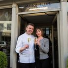 Chef patron Pascal and Karine Canevet at Maison Bleue in Bury St Edmunds which won Restaurant of the