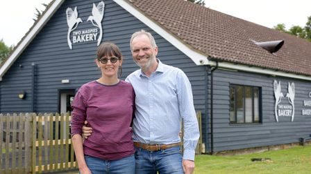 Rebecca Bishop and Steve Magnall at Two Magpies in Darsham which is nominated for Best Independent F
