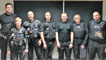 From left to right: PCs Ryan Kent, Jodie Phillips, Kevin Ward, Simon Potters, Ben Spencer, Steph Tri