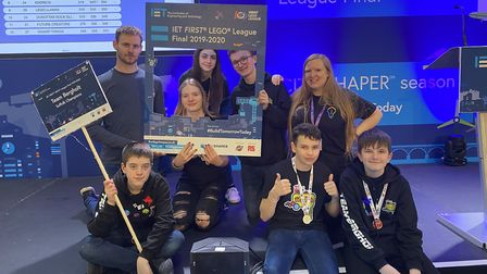 The First LEGO League team made up from East Bergholt Hgi hSchool and Suffolk One students was helpe