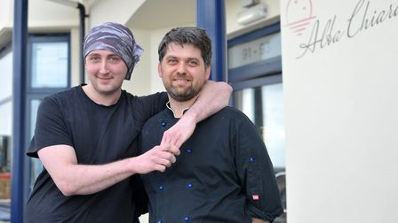 Owners of Alba Chiara in Felixstowe, Flavio Sirane and Stefan Mania Picture: SARAH LUCY BROWN