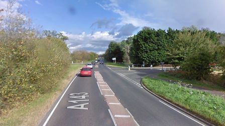 Three vehicles have collided on the A143, Haverhill Road. Picture: GOOGLE MAPs