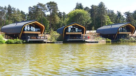 Lodges next to the lake at the Center Parcs resort in Elveden. Three people were arrested on Thursda