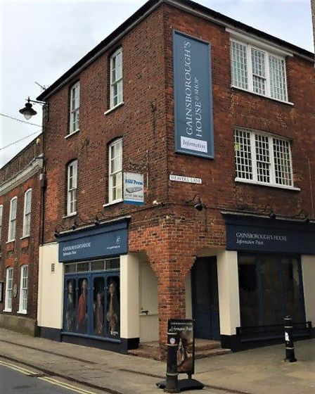 The new information point has opened up adjacent to the Gainsborough's House museum. Picture: COURTE