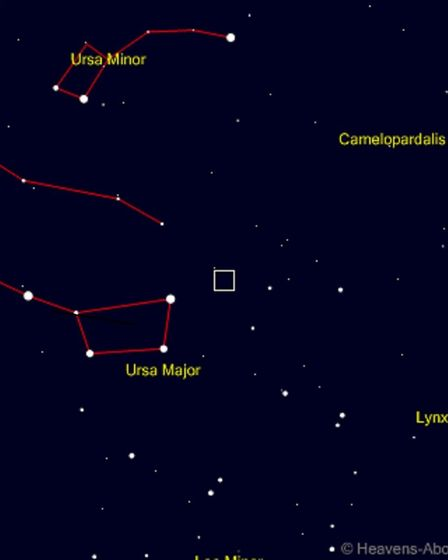 A chart showing where the comet can be seen in the sky until Saturday. Picture: www.heavens-above.co
