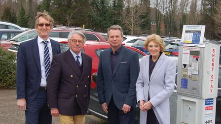 Councillor Peter Stevens, cabinet member for operations at West Suffolk Council, is second from left