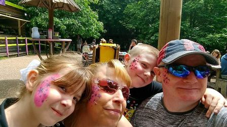 From left to right: Caitlin, Lisa, Logan and Michael Picture: SUPPLIED BY FAMILY