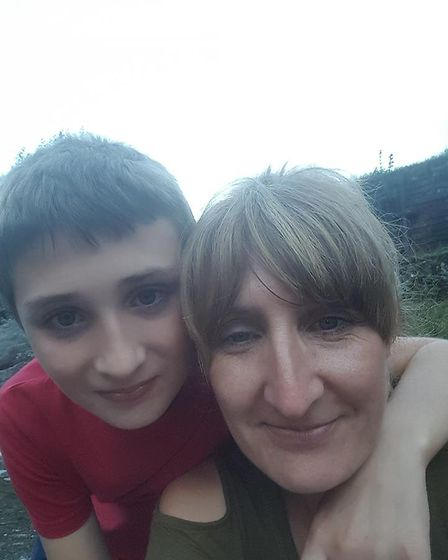 Lowestoft mother Clare Kingaby-Lewis with her autistic son Samuel
