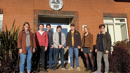 The Thomas Mills High School students are hoping to confirm their places after receiving their A-Lev