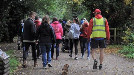 Up to 200 people participated in last years Sudbury Memory Walk which raised £2110 in aid of dementi