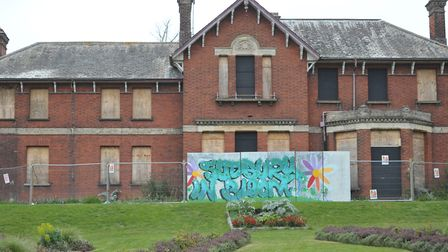 There are three options for the currently disused Belle Vue House in Sudbury. Picture: SARAH LUCY B